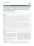 HIV testing and burden of HIV infection in black cancer patients in Johannesburg, South Africa: A cross-sectional study