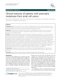 Clinical outcome of patients with pancreatic metastases from renal cell cancer