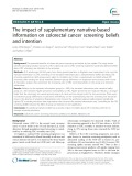 The impact of supplementary narrative-based information on colorectal cancer screening beliefs and intention