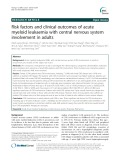 Risk factors and clinical outcomes of acute myeloid leukaemia with central nervous system involvement in adults