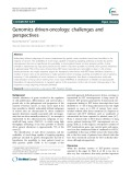 Genomics driven-oncology: Challenges and perspectives