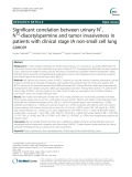 Significant correlation between urinary N1 , N12-diacetylspermine and tumor invasiveness in patients with clinical stage IA non-small cell lung cancer