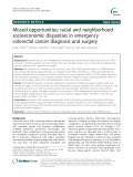 Missed opportunities: Racial and neighborhood socioeconomic disparities in emergency colorectal cancer diagnosis and surgery