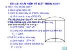 Bài giảng Hình học 12 - Bài 1: Khái niệm về mặt tròn xoay (Tiết 2)