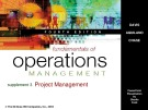 Lecture Fundamentals of operations management (4/e): Chapter 4 - Davis, Aquilano, Chase
