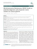 Minichromosome Maintenance (MCM) Family as potential diagnostic and prognostic tumor markers for human gliomas