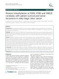 Histone trimethylation at H3K4, H3K9 and H4K20 correlates with patient survival and tumor recurrence in early-stage colon cancer
