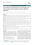 Irreversible electroporation of unresectable soft tissue tumors with vascular invasion: Effective palliation