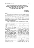 Ngôn ngữ truyện ngắn Nhất Linh, Khái Hưng trong xu hướng phát triển ngôn ngữ văn xuôi nghệ thuật của Tự Lực văn đoàn – từ góc nhìn trần thuật học