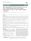 3D-image-guided HDR-brachytherapy versus 2D HDR - brachytherapy after external beam radiotherapy for early T-stage nasopharyngeal carcinoma