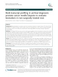 Multi-transcript profiling in archival diagnostic prostate cancer needle biopsies to evaluate biomarkers in non-surgically treated men