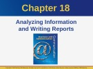 Lecture Business and administrative communication: Chapter 18 - Kitty O. Locker, Donna S. Kienzler