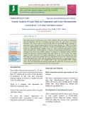 Genetic analysis of grain yield, its components and grain micronutrients