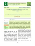 Challenges and opportunities of agribusiness in post-Covid-19 situation in India: A review