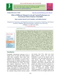 Effect of different nitrogen levels and varietal performance on growth and yield of summer pearlmillet
