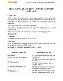 Giáo án Vật lý 12 – Bài 30: Hiện tượng quang điện, thuyết lượng tử ánh sáng