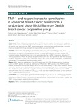 TIMP-1 and responsiveness to gemcitabine in advanced breast cancer; results from a randomized phase III trial from the Danish breast cancer cooperative group