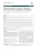 Temporal evolution in caveolin 1 methylation levels during human esophageal carcinogenesis
