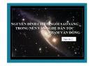 Bài giảng Ngữ văn 12: Nguyễn Đình Chiểu ngôi sao sáng trong nền văn nghệ dân tộc (Phạm Văn Đồng)