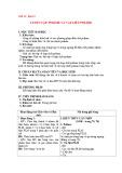 Giáo án Hóa học 12 - Bài 15: Luyện tập Polime và vật liệu Polime