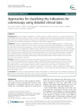 Approaches for classifying the indications for colonoscopy using detailed clinical data