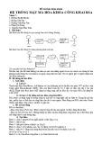 Bài tập nhóm Hệ thống mật mã hóa khóa công khai RSA