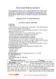 Giáo án môn Sinh học 12 - Bài 29: Các bằng chứng tiến hóa