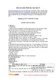Giáo án môn Sinh học 12 - Bài 36: Nguồn gốc sự sống