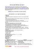 Giáo án môn Sinh học 12 - Bài 41: Môi trường và các nhân tố sinh thái