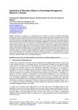 Application of boundary objects in knowledge management research: A review