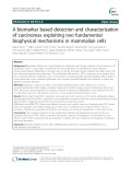 A biomarker based detection and characterization of carcinomas exploiting two fundamental biophysical mechanisms in mammalian cells