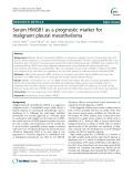 Serum HMGB1 as a prognostic marker for malignant pleural mesothelioma