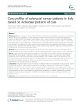 Cost profiles of colorectal cancer patients in Italy based on individual patterns of care
