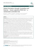 Patient Activation through Counseling and Exercise – Acute Leukemia (PACE-AL) – a randomized controlled trial