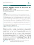 Inorganic phosphate and the risk of cancer in the Swedish AMORIS study
