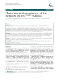 Effect of dabrafenib on melanoma cell lines harbouring the BRAFV600D/R mutations