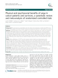 Physical and psychosocial benefits of yoga in cancer patients and survivors, a systematic review and meta-analysis of randomized controlled trials
