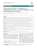 Overcoming Bcr-Abl T315I mutation by combination of GNF-2 and ATP competitors in an Abl-independent mechanism