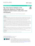 The role of tissue elasticity in the differential diagnosis of benign and malignant breast lesions using shear wave elastography