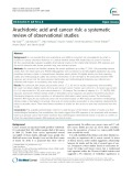 Arachidonic acid and cancer risk: A systematic review of observational studies