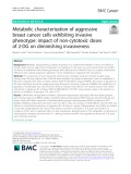 Metabolic characterization of aggressive breast cancer cells exhibiting invasive phenotype: Impact of non-cytotoxic doses of 2-DG on diminishing invasiveness