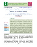 Crop water requirement, water productivity and comparative advantage of crop production in Different regions of Uttar Pradesh, India