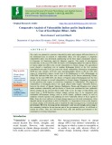 Comparative analysis of vulnerability indices and its implications: A case of Kosi region (Bihar), India