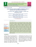 Genetic diversity analysis in sunflower (Helianthus annuus L.) parental lines using SSR and RAPD markers