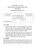 Đáp án đề kiểm tra học kỳ II năm học 2019-2020 môn Quản trị sản xuất 1 - ĐH Sư phạm Kỹ thuật