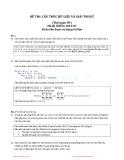 Đề thi học kỳ năm 2010 môn Cấu trúc dữ liệu và giải thuật (Mã đề 01) - Đại học Bách khoa Hà Nội