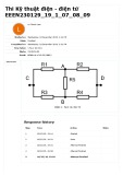Đáp án đề thi Kỹ thuật điện - Điện tử - ĐH Sư phạm Kỹ thuật