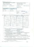 Đáp án đề kiểm tra học kỳ I năm học 2015-2016 môn Phương pháp kiểm tra đánh giá vật liệu (Mã đề A) - ĐH Sư phạm Kỹ thuật