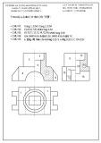 Đáp án đề thi học kỳ môn Vẽ kỹ thuật (Hệ 2 tín chỉ) - ĐH Sư phạm Kỹ thuật