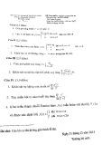Đề thi học kỳ môn Toán cao cấp A1 - ĐH Sư phạm Kỹ thuật